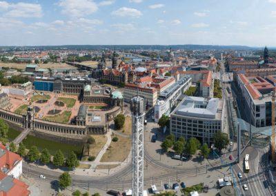 360° Panoramablick, City Skyliner, Postplatz, Dresden, Sächsische Zeitung 8/2019