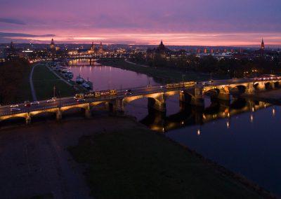 Beleuchtung an der Albertbrücke, Dresden, Sächsische Zeitung 11/2019