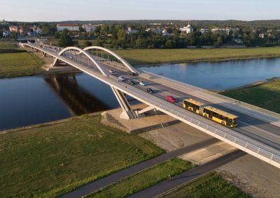 Feierabendverkehr auf der Waldschlösschenbrücke,  Dresden, Sächsische Zeitung 8/2019