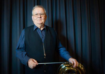 Dirigent der Dresdner Bläserphilharmonie, Stefan Fritzen, Dresden, Sächsische Zeitung 2/2019