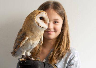 Eulentag in der Wildvogelauffangstation, Jolien & ihre Schleiereule, Dresden, Sächsische Zeitung 2/2019
