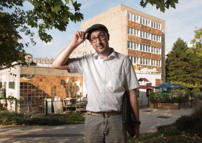 Stadtkümmerer Körner Matthias setzt sich für Denkmalschutzstatus für Gorbitzer Skulpturen und Plattenbauten ein, Dresden, Sächsische Zeitung 9/2018