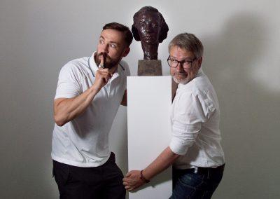 Bürger Lars Dietrich & Olaf Becker in der Palucca Schule, Dresden, Sächsische Zeitung 5/2016