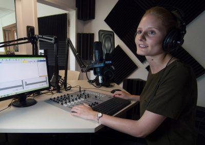 Franziska Garms ist Moderatorin beim Campusradio der TU-Dresden, Sächsische Zeitung 7/2016