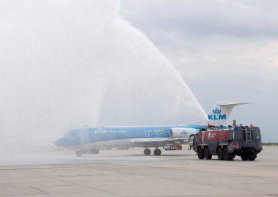 Flughafen Dresden Eröffnung der KLM Linie nach Amsterdam, Dresden, Sächsische Zeitung 5/2016