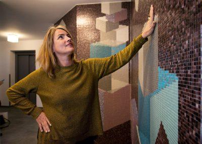 Kunst am Bau, CG-Gruppe hat neues Wohngebiet gebaut , Künstlerin Julia Bornefeld, Dresden, Sächsische Zeitung 12/2016