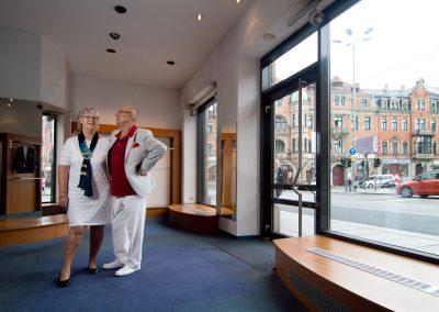 Ehepaar Heinrich schliesst das Modehaus Bormann um in Ruhestand zu gehen, Dresden, Sächsische Zeitung 8/2016