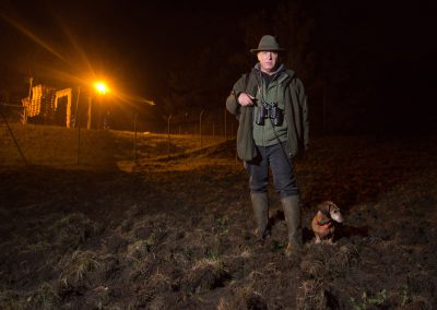 auf Wildschweinjagd mit Jagdpächter Andrzej Krzystofinski, Dresden, Sächsische Zeitung 10/2016