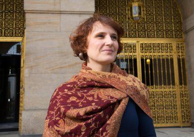 Stadtparteitag Die Linke Dresden, Katja Kipping vorm Rathaus, Sächsische Zeitung 10/2016