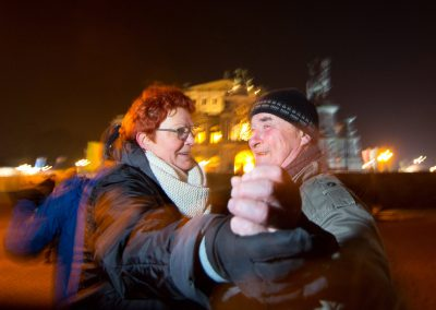 Tanzen an Silvester auf dem Theaterplatz, Dresden, Sächsische Zeitung, 2016/17