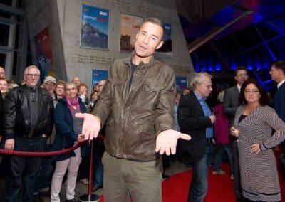 """Kai Pflaume bei Filmpremiere von Wolfgang Stumphs """"Heimatliebe"""", Ufa-Palast, Dresden, Sächsische Zeitung 10/2016"""