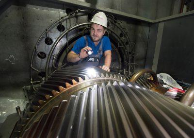 Turbineninspektion, Florian Wagner, Heizkraftwerk Nossener Brücke, Dresden, Sächsische Zeitung 10/2017