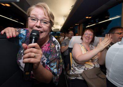 Comedian Andrea Müller & ihr Comedy-Bus, Dresden, Sächsische Zeitung 7/2017