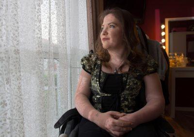 die Schwerbehinderte Jessica Pankow soll ihren Anspruch auf 1:1 Betreuung verlieren, Dresden, Sächsische Zeitung 5/2017