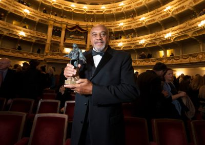 Friedenspreis für Dr. Tommie Smith, Semperoper Dresden, Sächsische Zeitung 2/2018
