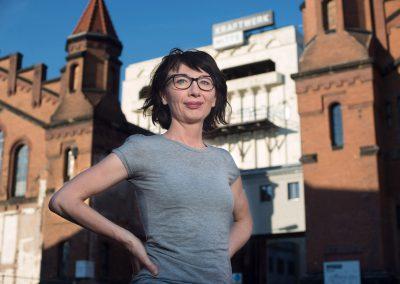 Grit Dora von Zeschau ist Bühnenbildnerin am Theater Junge Generation, Kulturkraftwerk, Dresden, Sächsische Zeitung 5/2017