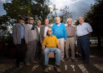ehemaliger Lehrer Alfred Gerhardt (Mitte) trifft seine alten Schüler, Dresden, Sächsische Zeitung 9/2017