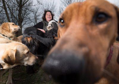 """Kerstin Berger ist Inhaberin der Hundekita """"Hundemädel"""", Dresden, Sächsische Zeitung 12/2017"""