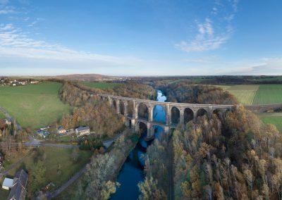 Göhrener Brücke über die Zwickauer Mulde, Muldental bei Wechselburg/Sa. 11/2019